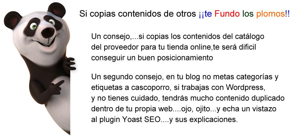 Consejos SEO Google Panda