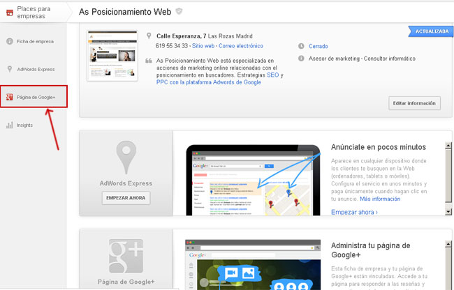 Pasar de Google Places a Google Plus Local