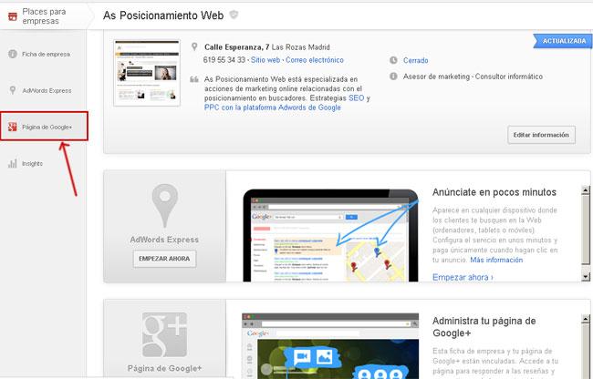 Pasar de Google Places a Google Plus Local
