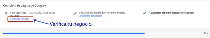 Verificar cuenta empresa en Google
